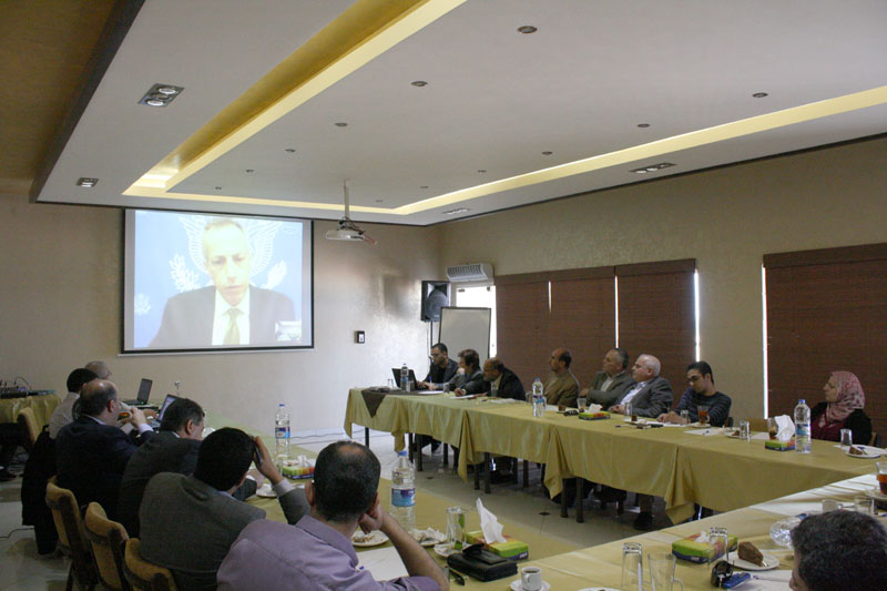 A Video Conference Meeting With The U.S. General Consul in Jerusalem, Mr. Michael Alan Ratney